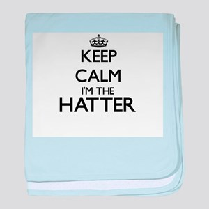 Keep calm I'm the Hatter baby blanket