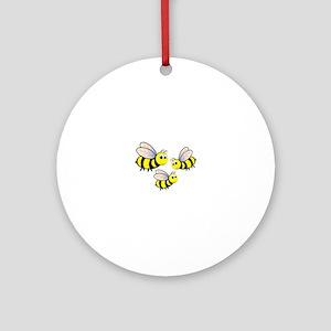 Three Bees Ornament (Round)
