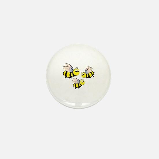 Three Bees Mini Button
