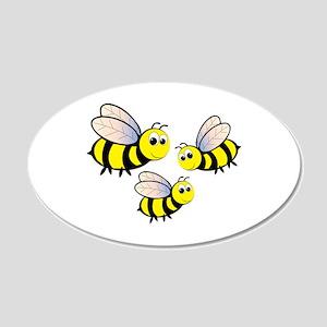 Three Bees Wall Decal