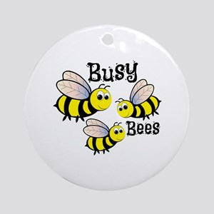 Busy Bees Ornament (Round)