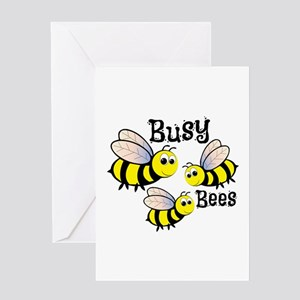 Busy Bees Greeting Cards