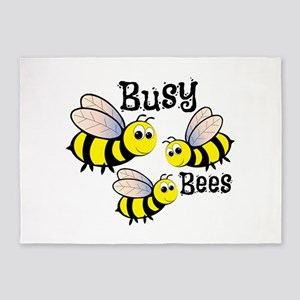 Busy Bees 5'x7'Area Rug