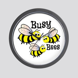 Busy Bees Wall Clock