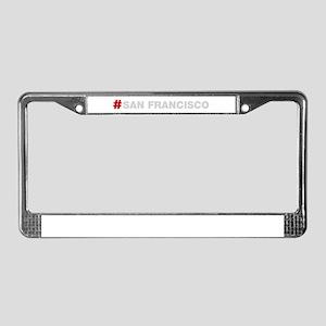 HashTag San Francisco License Plate Frame