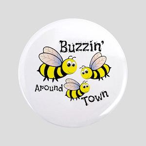 """Buzzin Around 3.5"""" Button"""