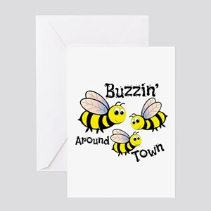 Buzzin Around Greeting Cards