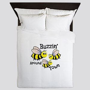 Buzzin Around Queen Duvet