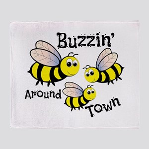 Buzzin Around Throw Blanket