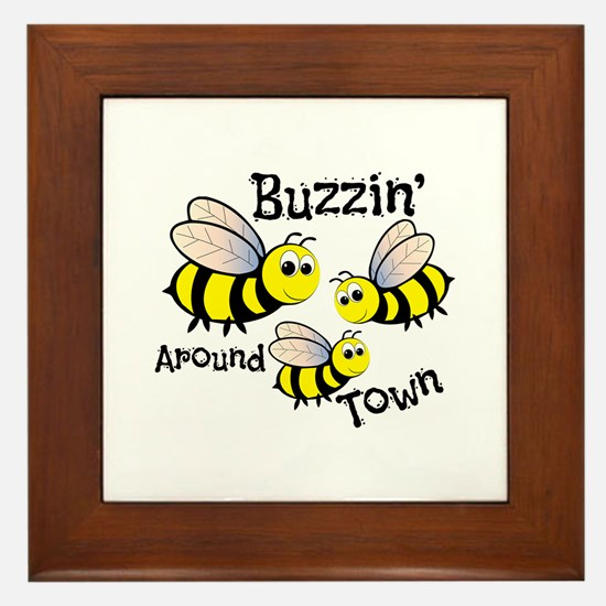Buzzin Around Framed Tile