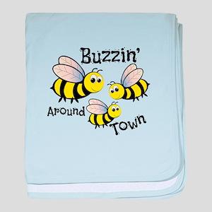 Buzzin Around baby blanket