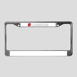 Hashtag London License Plate Frame