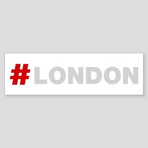 Hashtag London Bumper Sticker