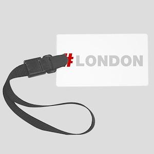Hashtag London Large Luggage Tag