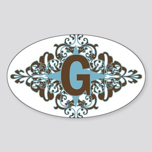 G Monogram Personalized Letter Sticker