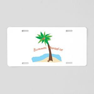 Summer Paradise Aluminum License Plate