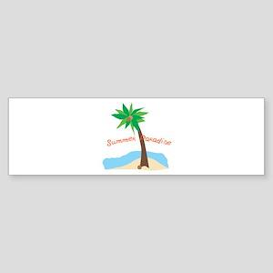 Summer Paradise Bumper Sticker
