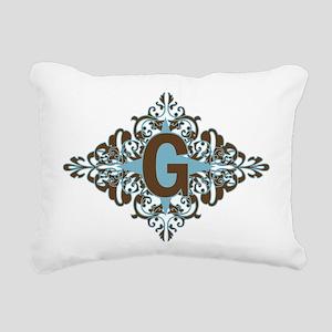 G Monogram Personalized Rectangular Canvas Pillow