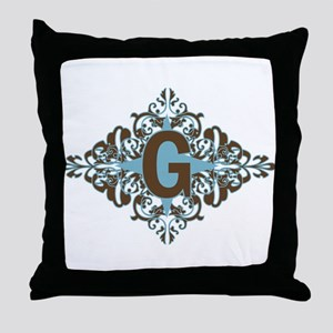 G Monogram Personalized Letter Throw Pillow