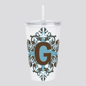 G Monogram Personalize Acrylic Double-wall Tumbler