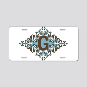 G Monogram Personalized Let Aluminum License Plate