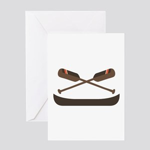 Row Canoe Greeting Cards