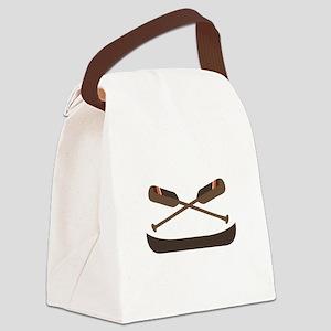 Row Canoe Canvas Lunch Bag