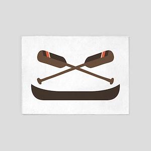 Row Canoe 5'x7'Area Rug