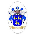 Gruen Sticker (Oval)