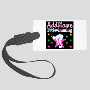 AWESOME SWIMMER Large Luggage Tag
