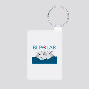 Bi Polar Bears Aluminum Photo Keychain