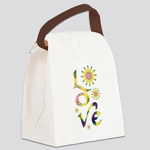 Love - Omm Flowers Canvas Lunch Bag
