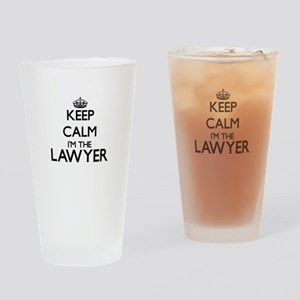 Keep calm I'm the Lawyer Drinking Glass
