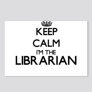 Keep calm I'm the Librari Postcards (Package of 8)