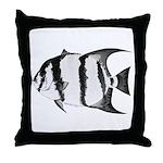 Spadefish Throw Pillow