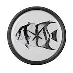 Spadefish Large Wall Clock