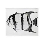 Spadefish Throw Blanket