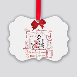 The gift of Christmas Picture Ornament