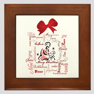 The gift of Christmas Framed Tile