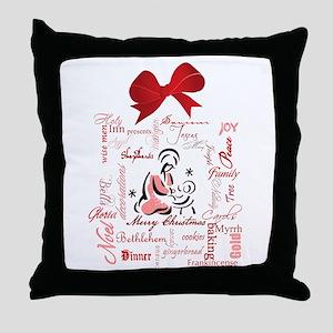 The gift of Christmas Throw Pillow