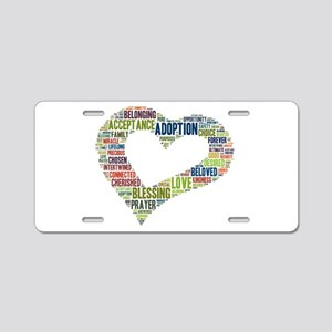 heart fulfilled Aluminum License Plate