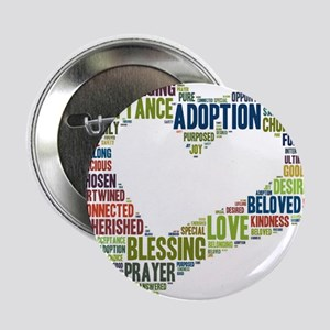 """heart fulfilled 2.25"""" Button (10 pack)"""
