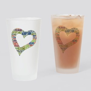 heart fulfilled Drinking Glass