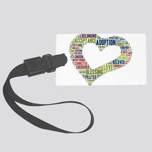heart fulfilled Large Luggage Tag