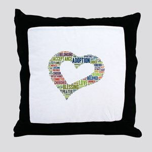 heart fulfilled Throw Pillow