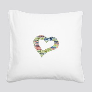 heart fulfilled Square Canvas Pillow