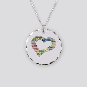 heart fulfilled Necklace Circle Charm