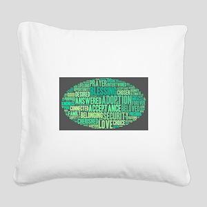 Sea Breeze Square Canvas Pillow