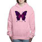 Deep Butterfly Women's Hooded Sweatshirt