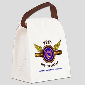 15TH ARMY AIR FORCE* ARMY AIR COR Canvas Lunch Bag